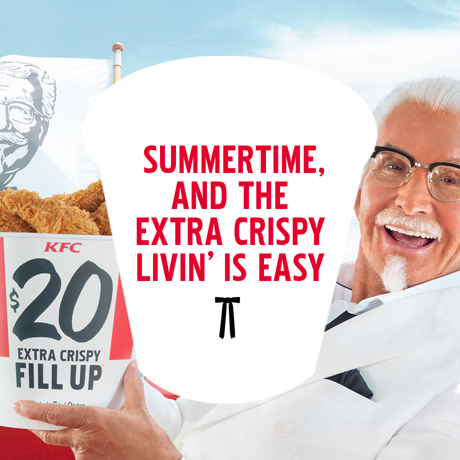 Extra Crispy Colonel George Hamilton Serves up KFC's Extra Crispy Chicken