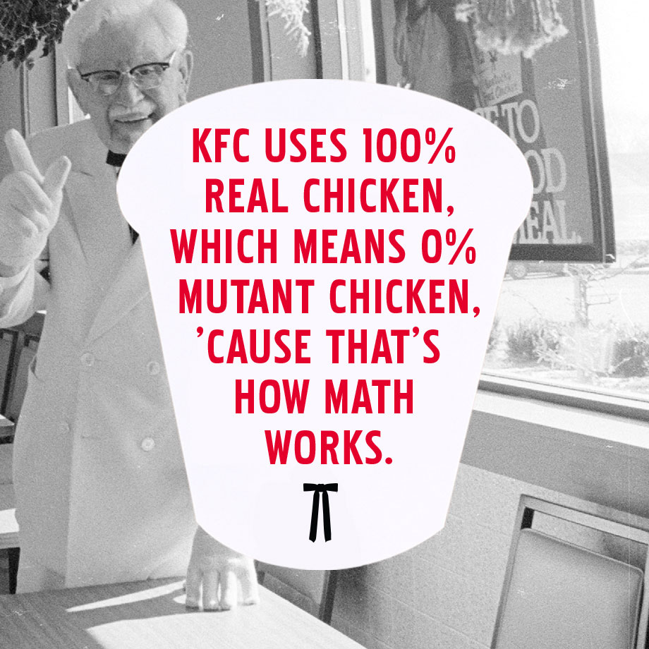 KFC uses 100% real chicken